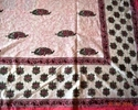 Block Printed Cotton Bed Cover Fabric Sanganeri Print