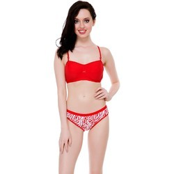 98807fec3 Red And Blue Cotton Bridal Bra Panty Sets