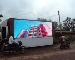 LED Mobile Van Advertising Service for election rally