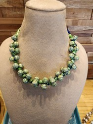 Green Pottery Necklace
