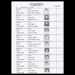 Black And White Attendance Sheet Scanning Services
