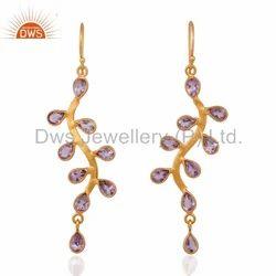 925 Silver Earring Amethyst Gemstone Jewelry