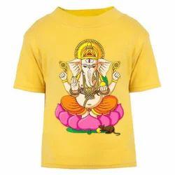 Multi Colour Print Polyester Printed Tshirts