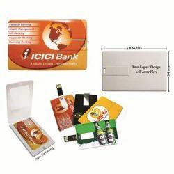 Jainex Corporate Gifts Plastic Credit Card Shape USB Pen Drive