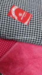 Dark Check Reversible Towel