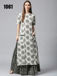 Ladies Skirt Kurti Dress