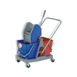 Blue Mop Wringer Trolley