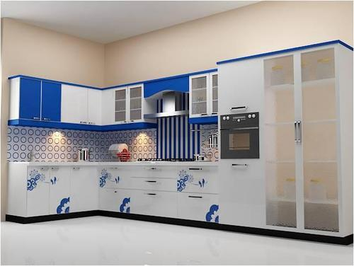 L Shape Small Modular Kitchen