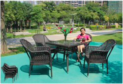 Matrix Style Wicker Outdoor Coffee Set