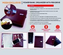 Corporate Dairy With Power Bank An Pen Drive