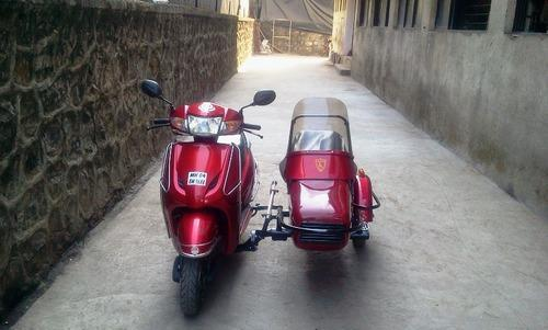 Retro Sidecar For Handicapped People