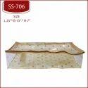 Golden Plastic Tissue Ghagra Cover