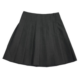 Black Cotton Girls School Skirt