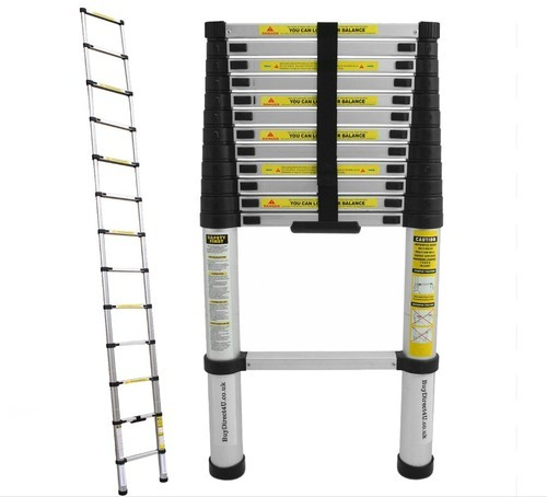Silver 2mtr 7step Telescopic Ladder 2m 7ft Rs 4000