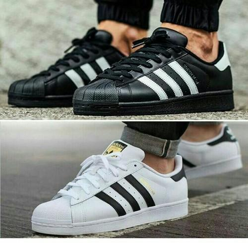 adidas superstar black for men