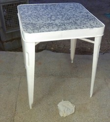 Metal Coffee Table With Granite Top