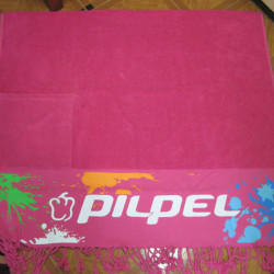Beach Towel With Print & Pocket