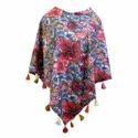 Multi Colour Cotton Printed Poncho