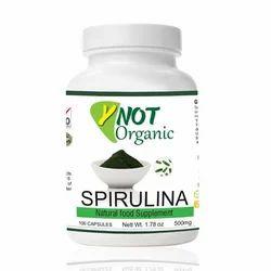 Natural Spirulina Capsules-500mg-100 -Capsules