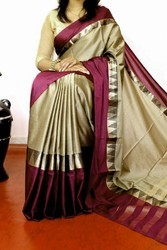 Cotton Silk Saree, Length: 6.3 meter