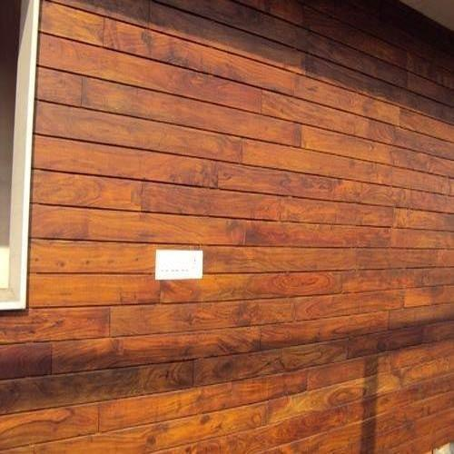 Wood Wall Cladding Exterior : Exterior wooden wall cladding at rs square feet