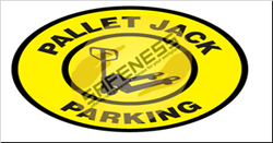 Pallet Jack Parking Floor Signs