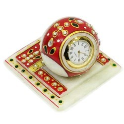Stone Work Marble Table Clock  Mb048