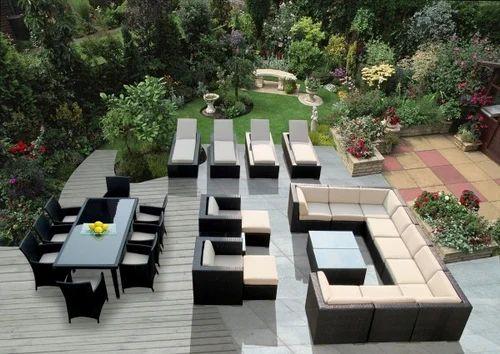 Rattan Brown Swimming Pool Furniture