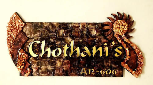 Exceptionnel Wooden Designer Name Plates