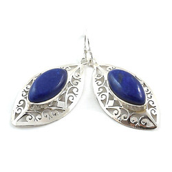 Lapis Sterling Silver Earring