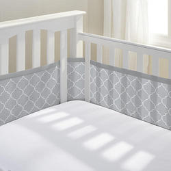 Baby Crib Bumpers Breathable Nursery Bumper For Baby Boys And Girls