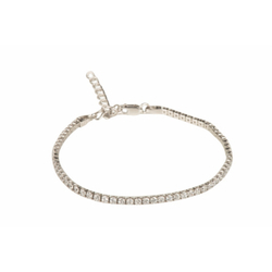 Ultra Shine Tennis Chain Crystal Wrap Rhodium Plated Bracelet