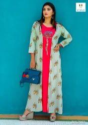 Designer Long Jacket Kurti