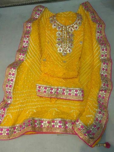 8336fd1918 Printed All Bandhej Gota Patti Suit Material, Rs 1100 /piece | ID ...