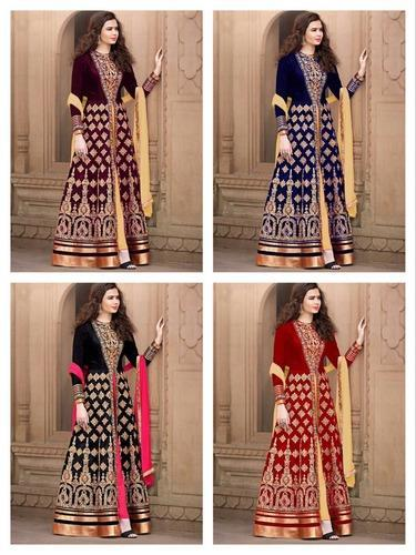 Exclusive Embroidered Designs Gowns at Rs 1750 /piece(s ...