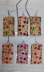 Multy Canvas Cotton Ladies Mobile pouch, Packaging Type: 6pcs