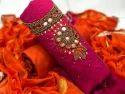Silk hand work dress material