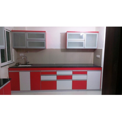 G Kitchen Layout: Modular Kitchen With G Handle Profile At Rs 1550 /square