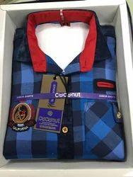 Check Designed Kids Shirt
