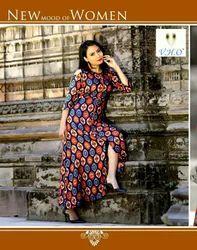 Designer Vho Rayon Long Kurti