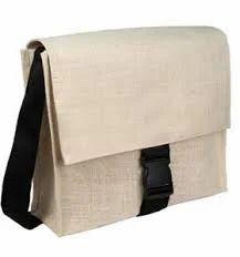 P.G.F Plain White Jute Conference Bag, Size: Rectangular