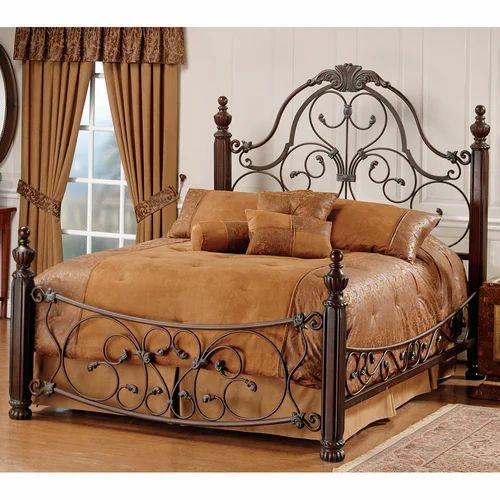 3x6 Feet Wooden Iron Bed