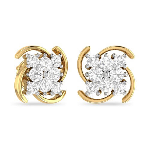 Nsh Jewellers Diamond Gold Stud Earring