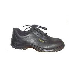 Action Milano Black Leather Safety Shoes