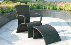 Rattan Style Wicker Day Lounger