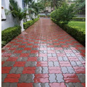 Cement Outdoor Glossy Zigzag Paver Blocks, Thickness: 60mm
