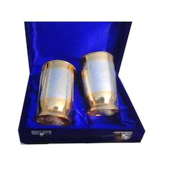 Silver Gold Plated Glass Set