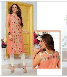 Embroidery Georgette Kurti