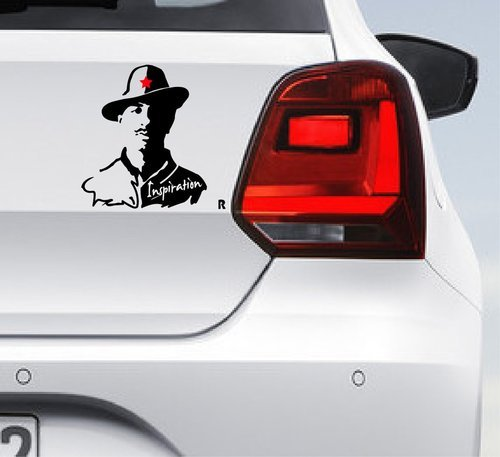Bhagat singh car bumper decal