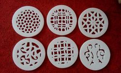 Marble Netted Coasters